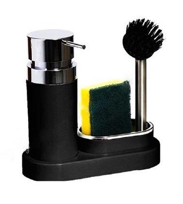 Primanova Polen Mutfak Sıvı Sabunluk Seti Siyah Renkli